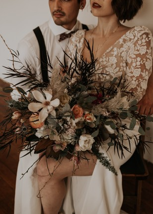 earthy themed wedding bouquet