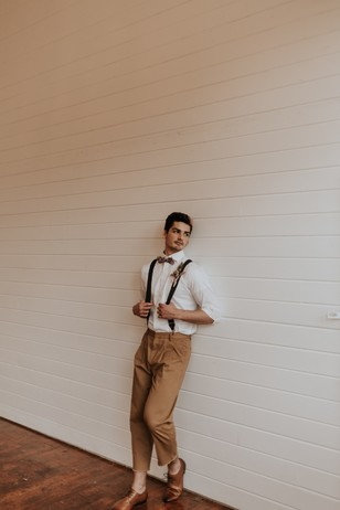 modern groom vibe with vintage touches