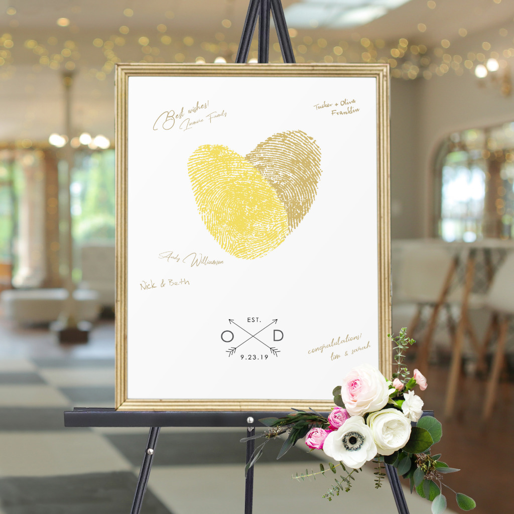 Designs for life's most memorable moments. Made with YOUR actual fingerprints. No two are ever completely alike!