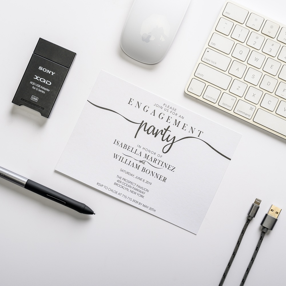 Elegant Cheap Engagement Invitation Card