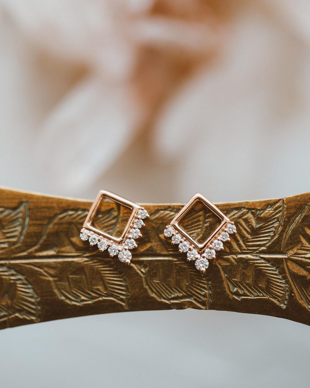 Brand new beauties! ✨ These 14k rose gold studs with a diamond flare are available at our Tennyson location and online now!