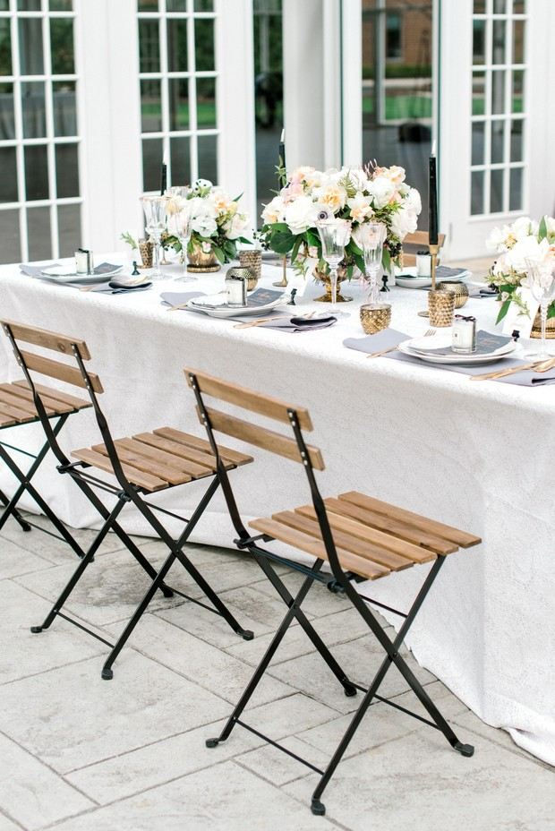 elegant spring reception idea