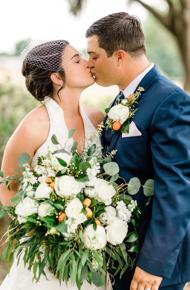 Florida orange grove wedding