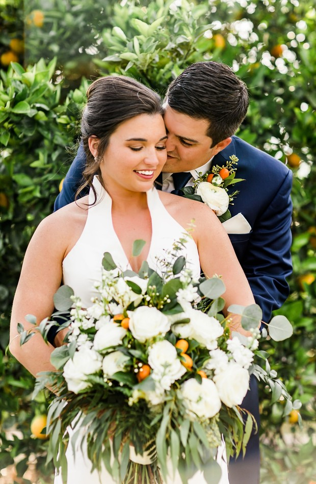 chic Orange grove wedding in Florida