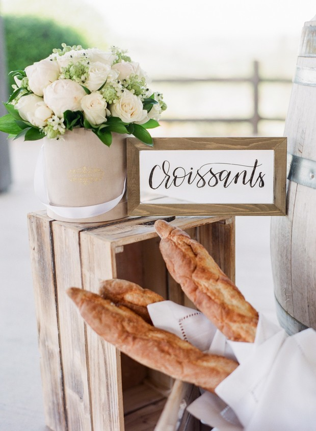wedding bread station
