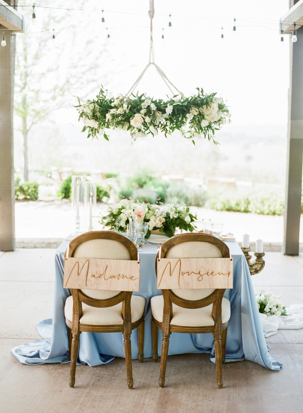 French-inspired sweetheart table
