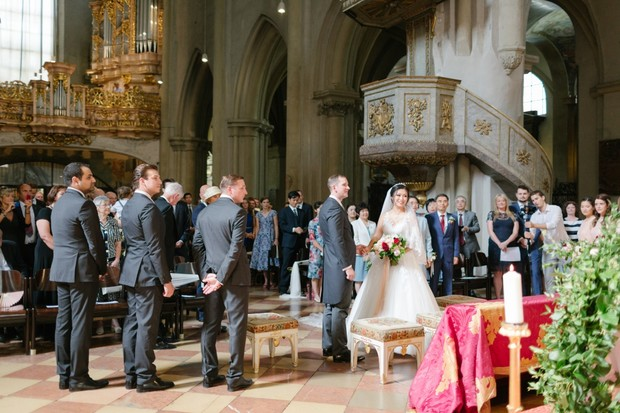 saying I do in a historic cathedral