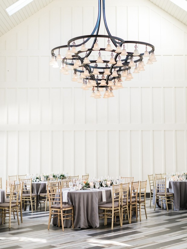 elegant rustic chic wedding reception