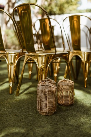 gold chrome wedding chairs