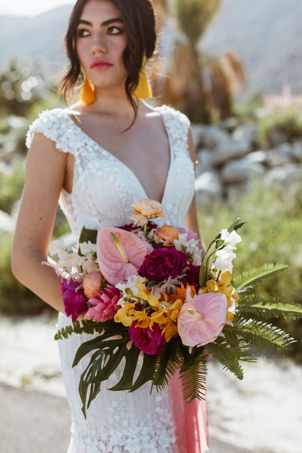 bold and bright wedding style for the summer