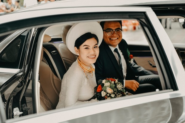traditional wedding ceremony and car ride