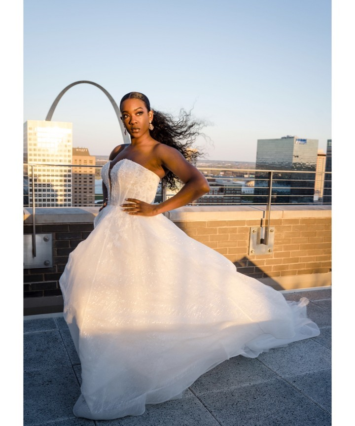 She's fierce. She's beautiful. She's fabulous. She's 'Genevieve' by L'amour style number LA9130.