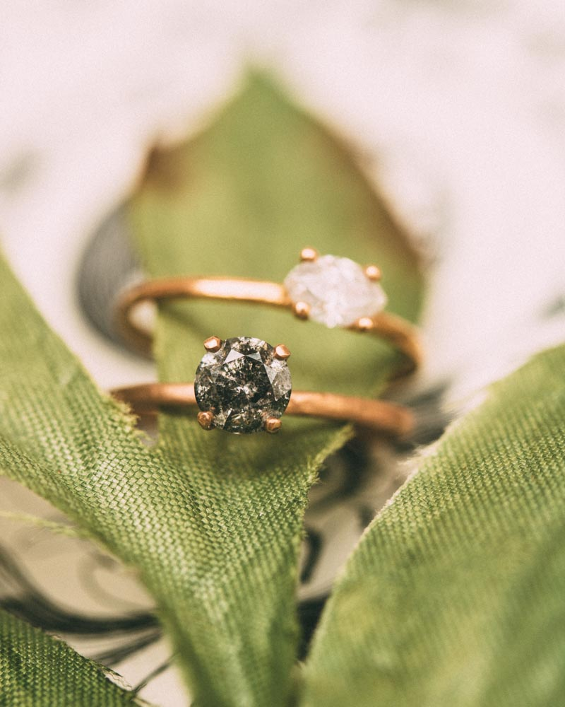 Simple and straight forward with a modern twist diamond solitaire - featured on refinery29 -30 Mind-Blowing Engagement Rings Made In