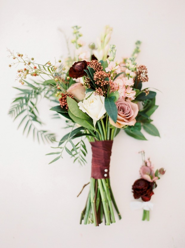 organic chic wedding bouquet