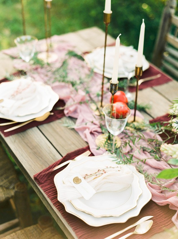 elegant farm table decor