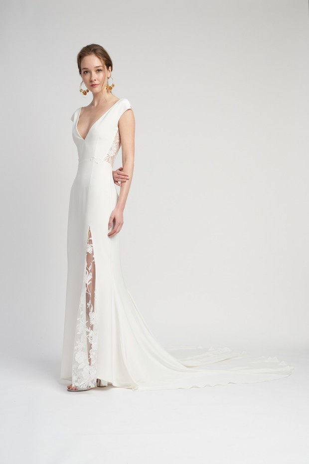 Modern lace panel dress, Alexandra Grecco