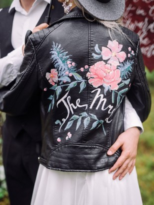 the mrs painted leather jacket