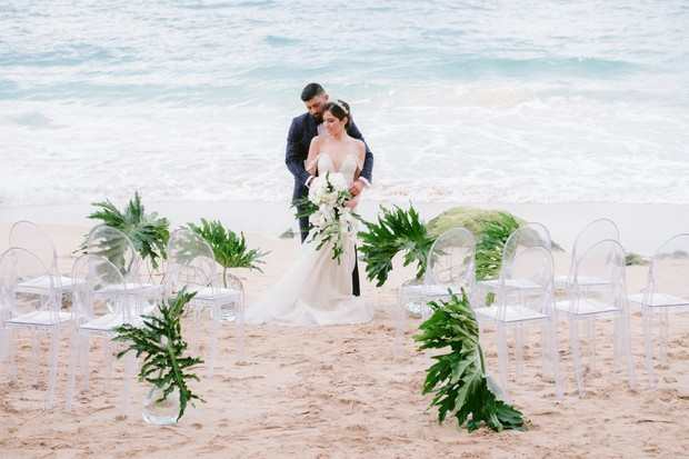 tropical elegance beach wedding