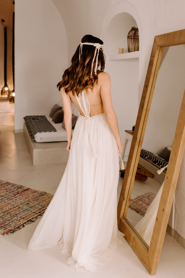 bride in Atelier Zolotas wedding dress