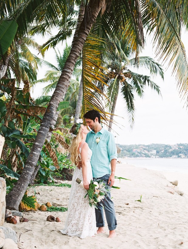 Getting married on the beach in Mexico