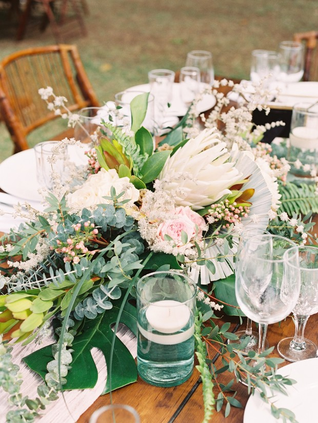 giant protea wedding centerpiece