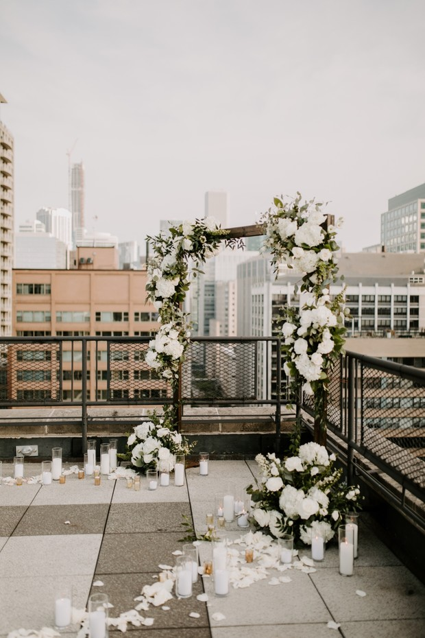 beautiful white flower arch backdrop