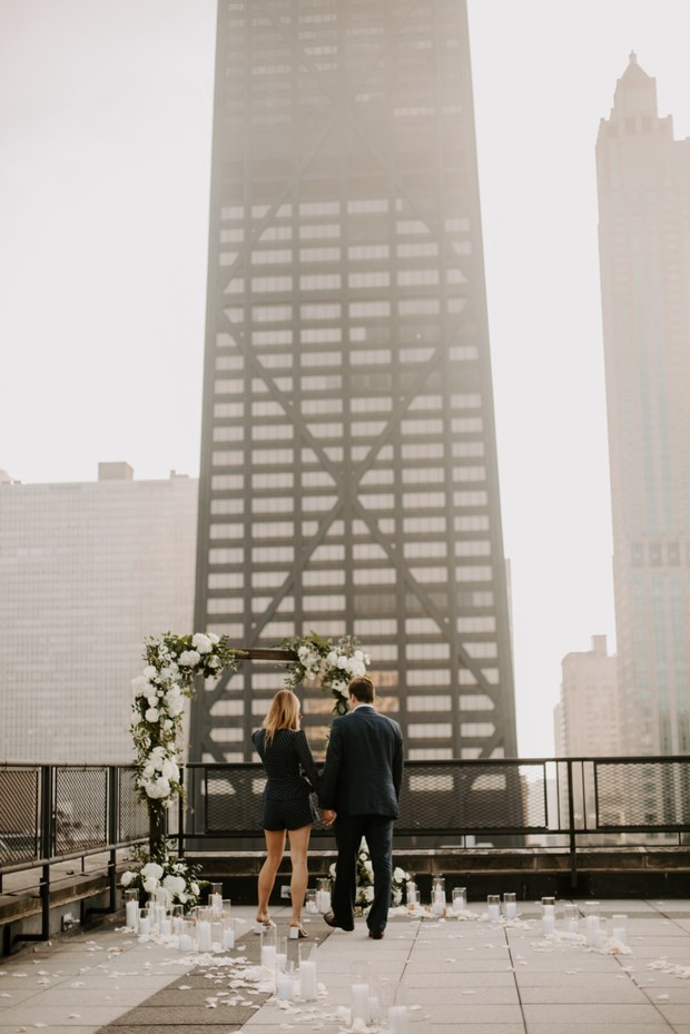 rooftop proposal spot in Chicago