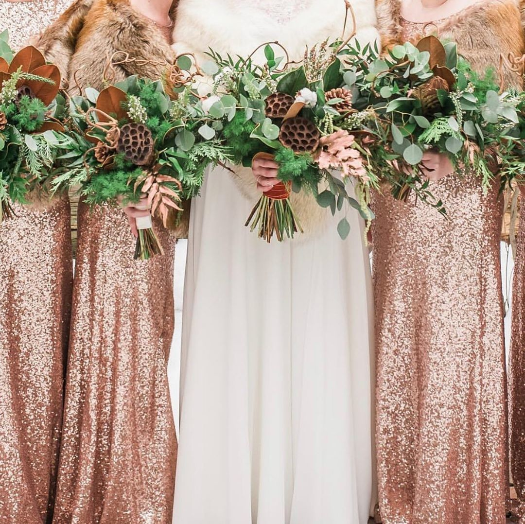 Rose Gold sequins, rustic bouquets, & the most spectator styles your babes will truly *want* to wear.😍