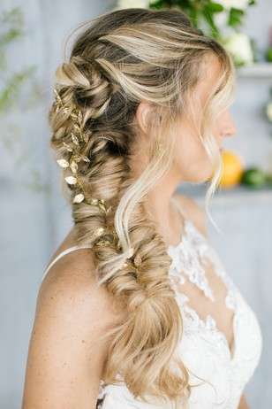 wedding braided hair look