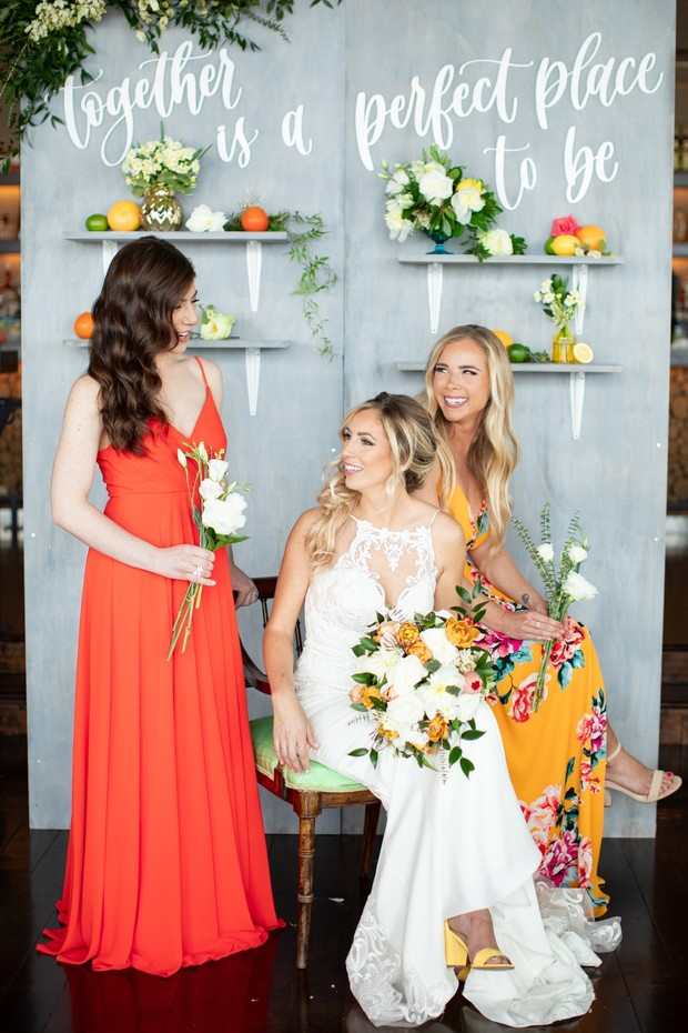 summertime bridal party look