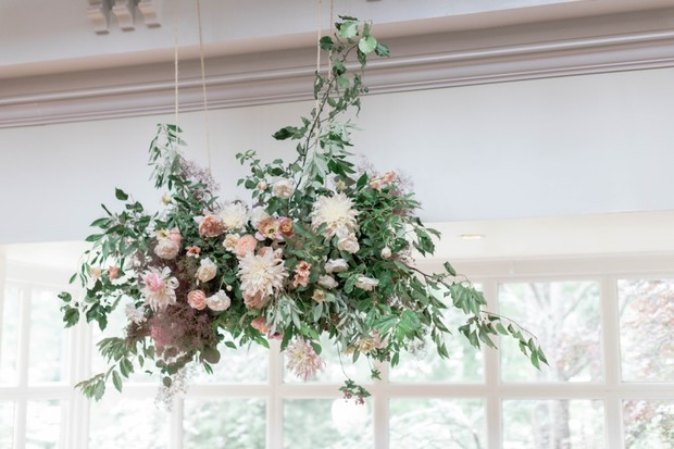 whimsical hanging floral decor