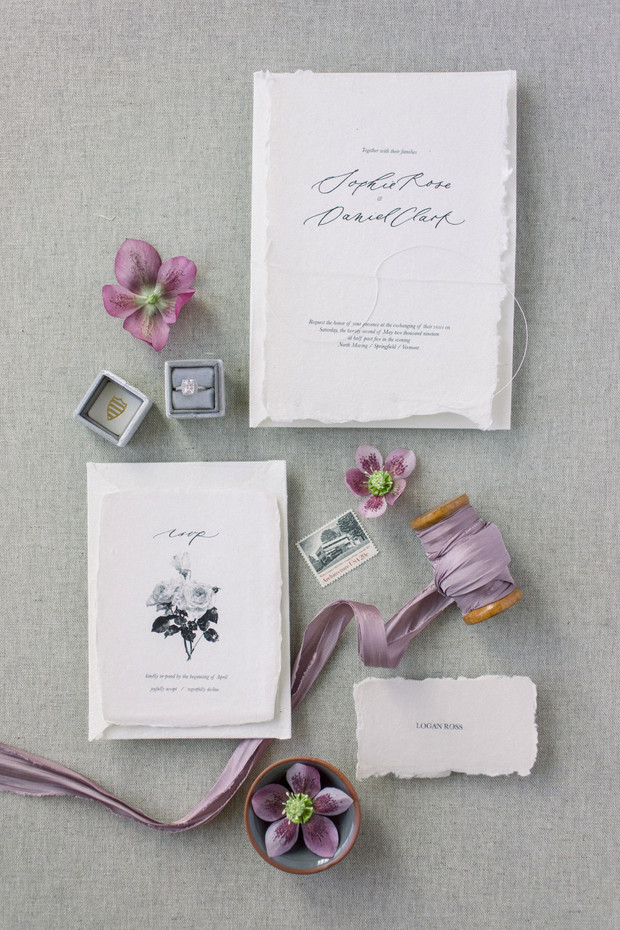 handwriting inspired wedding invitation suite