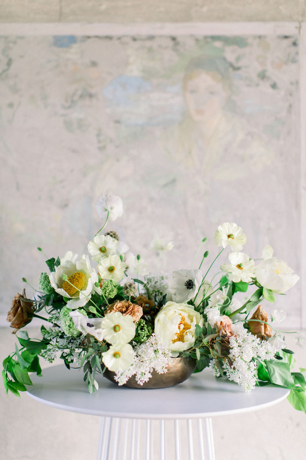 beautiful wild looking wedding florals
