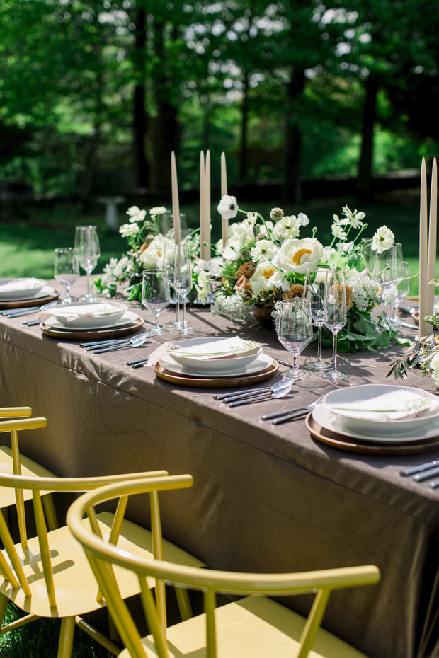 earth tone wedding table decor