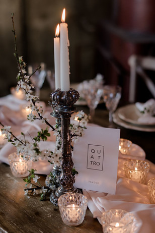 vintage and dramatic wedding table decor