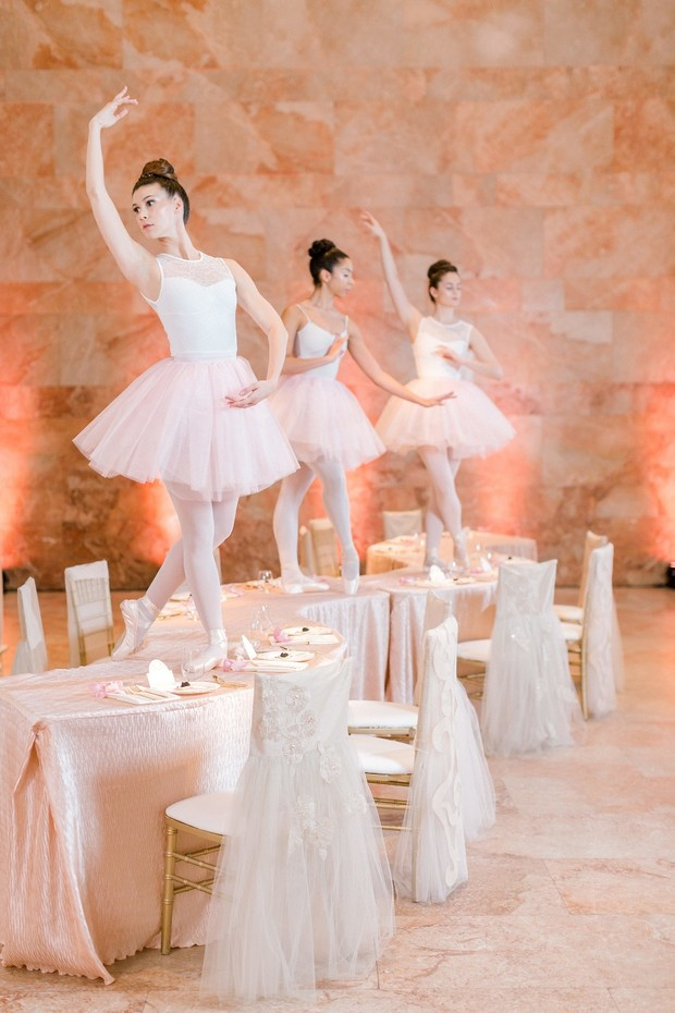 live ballerinas on tables