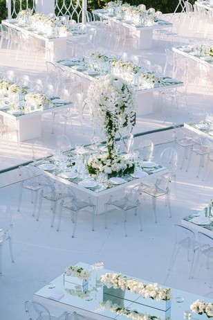 no budget all white wedding in Greece