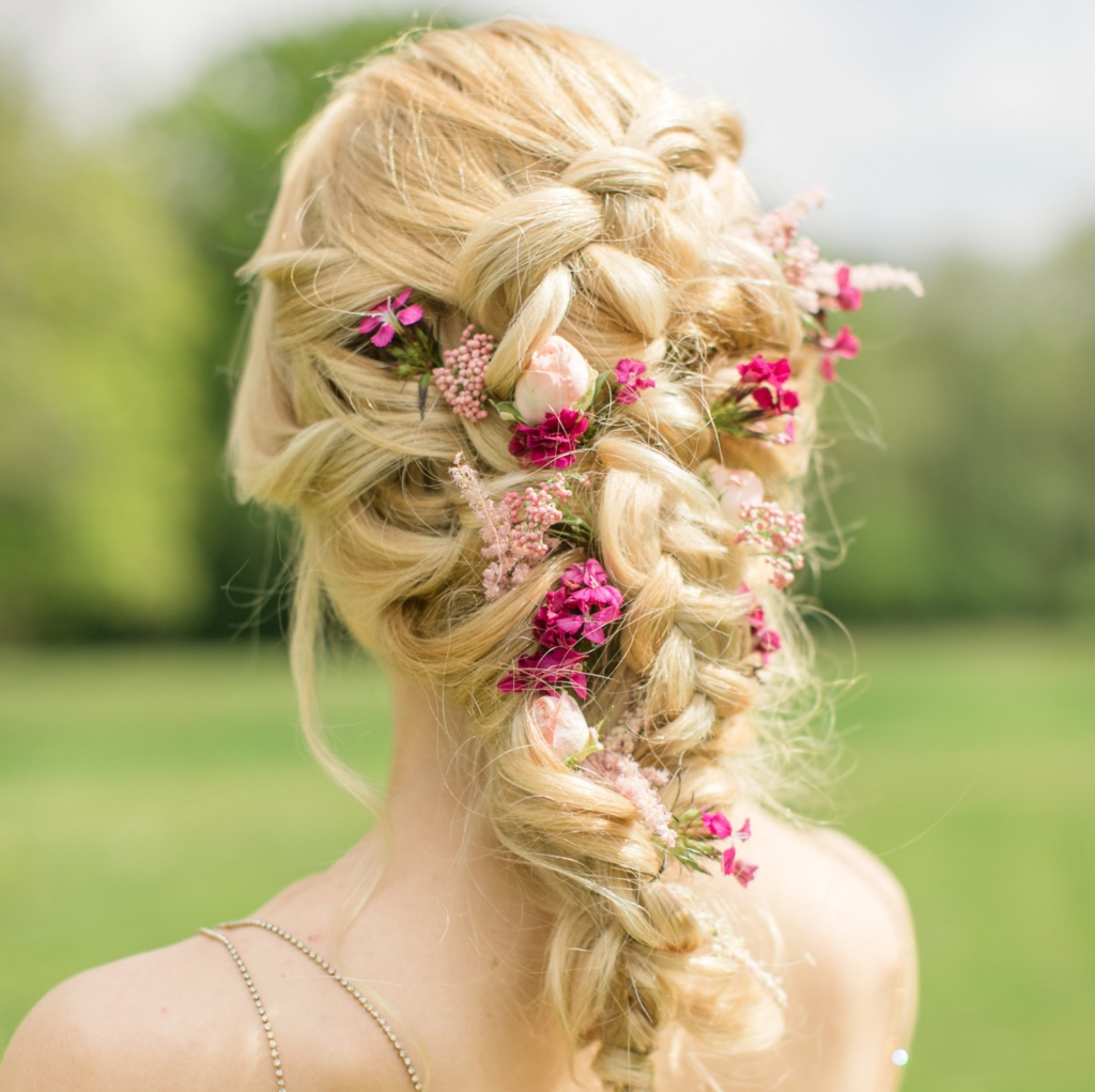 A colourful take on wedding hair that we just can't get enough of!