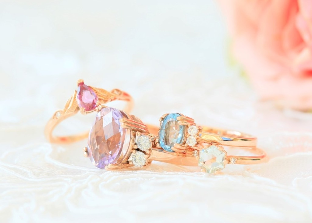 Unique rings for a unique bride - check out our collection of gorgeous Gemstone and diamond engagement rings
