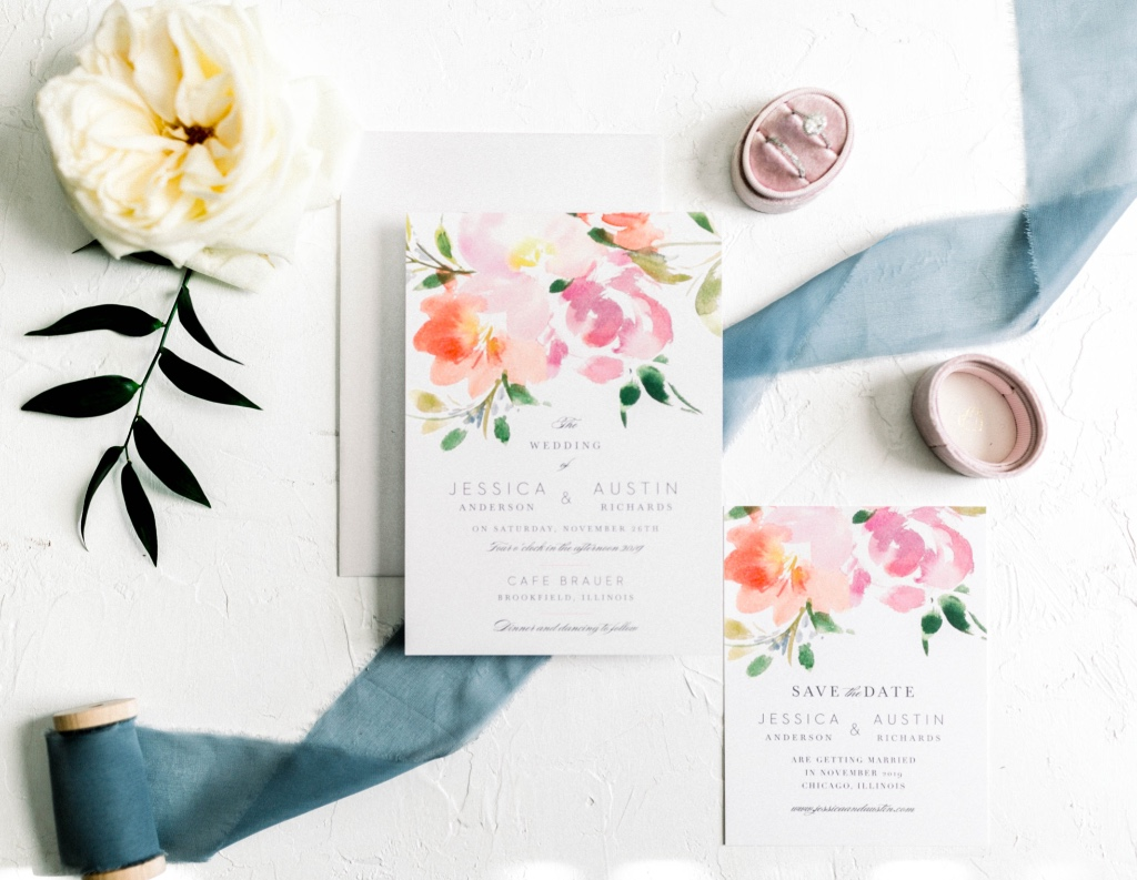 Our Floral Felicity Wedding Invitation Suite adds a feminine touch to your summertime nuptials!