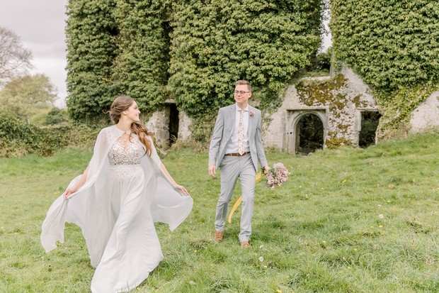 castle ruin wedding inspiration straight out of a fairytale