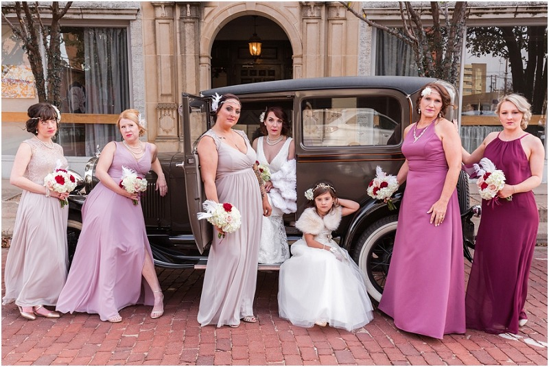 Great Gatsby themed wedding at The Historic Baker Building in Lubbock, TX