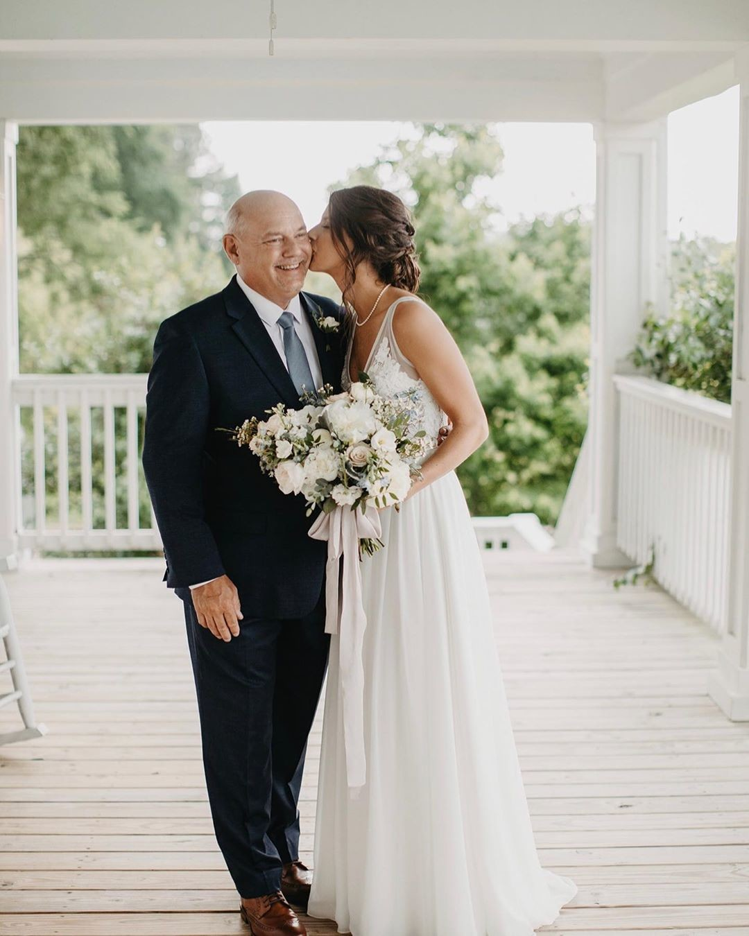 "💕""Today a Bride, Tomorrow a Wife, Forever your Little Girl""💕 Wedding days are always a big day for Dad too, and we love watching"