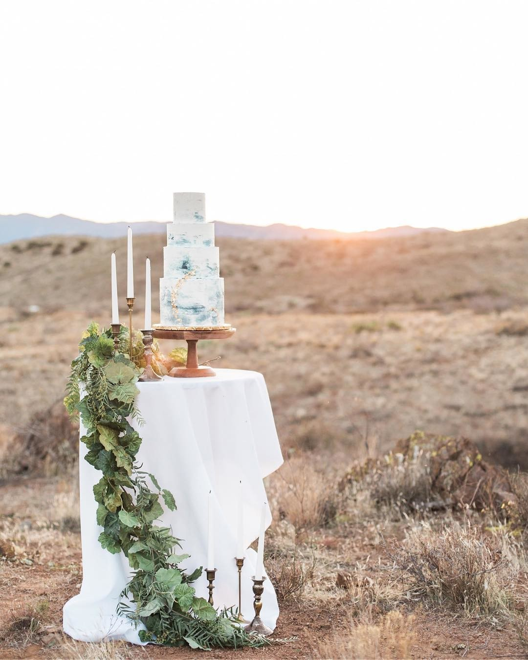 Just a gorgeous cake in the desert
