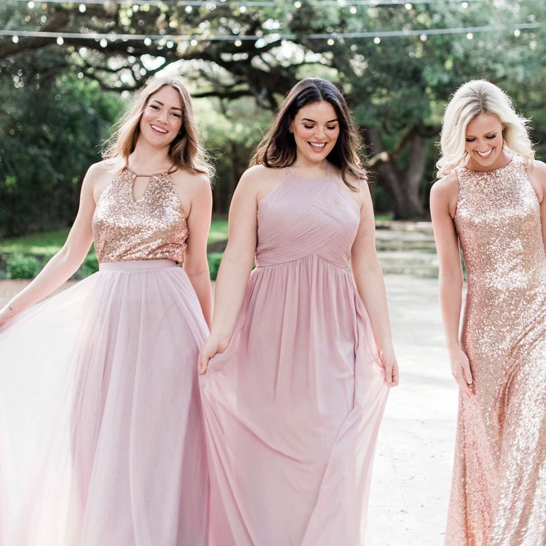 The most mesmerizing #mixandmatchbridesmaids