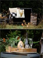 Gold and Gingham Winter Wedding