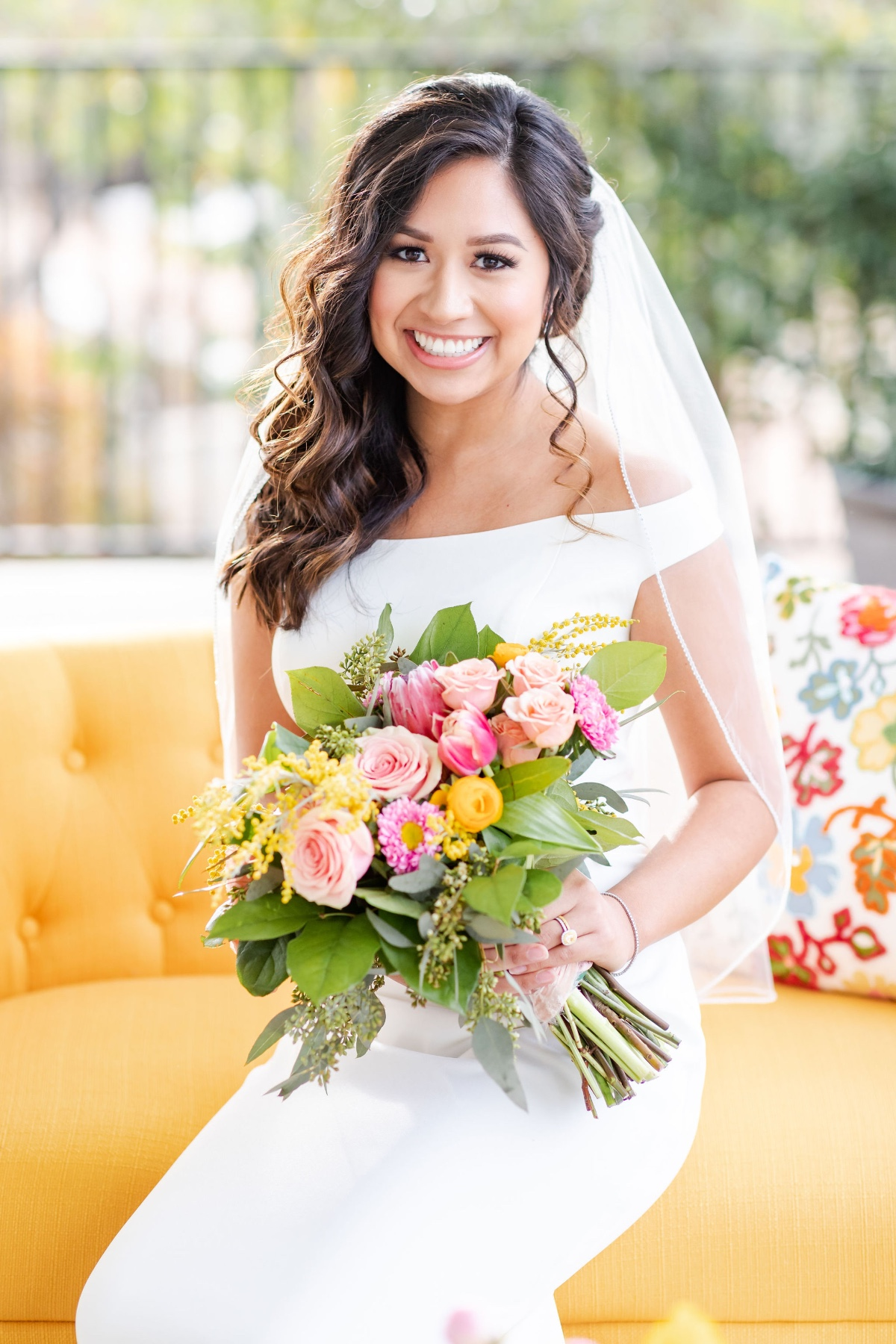 A Pink & Yellow Wedding That's Perfect for Summer