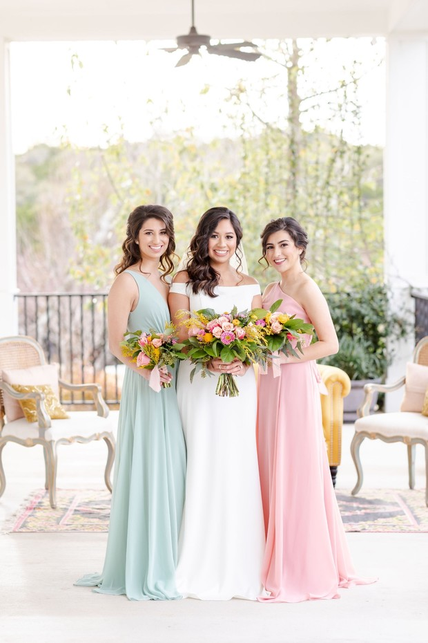 chic bride and bridesmaid style