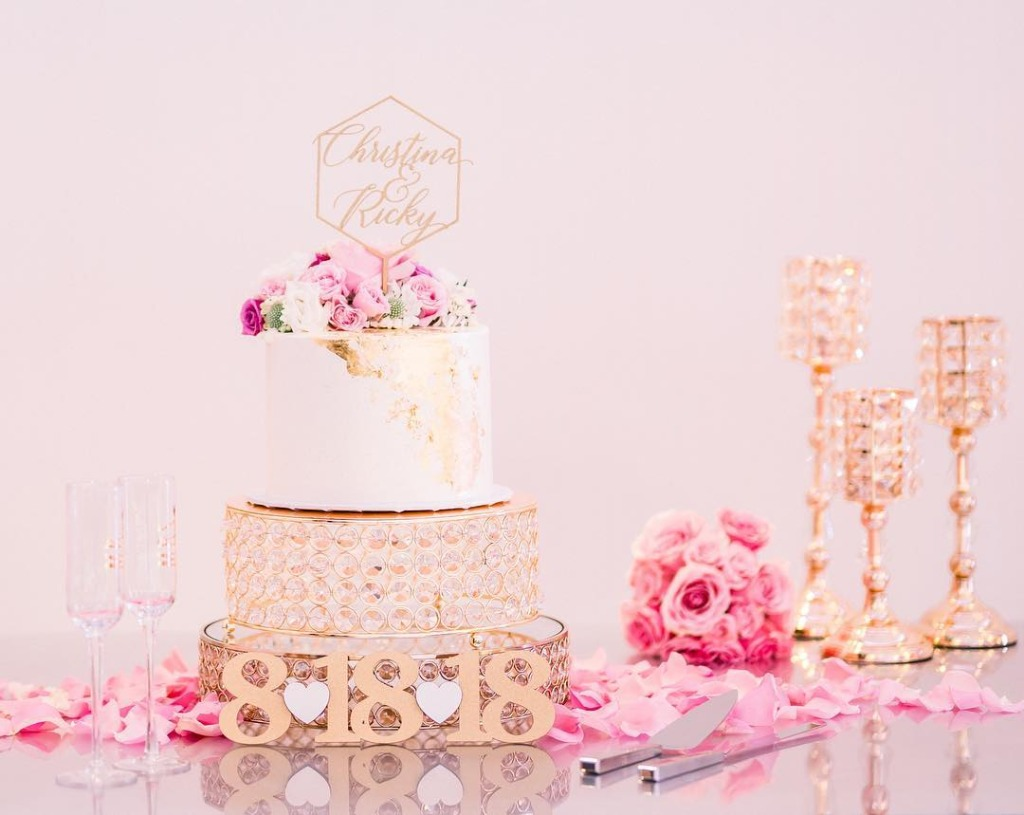 Pretty Pink and Gold Bling! Opulent Treasures will help you create an unforgettable Wedding Cake Table!