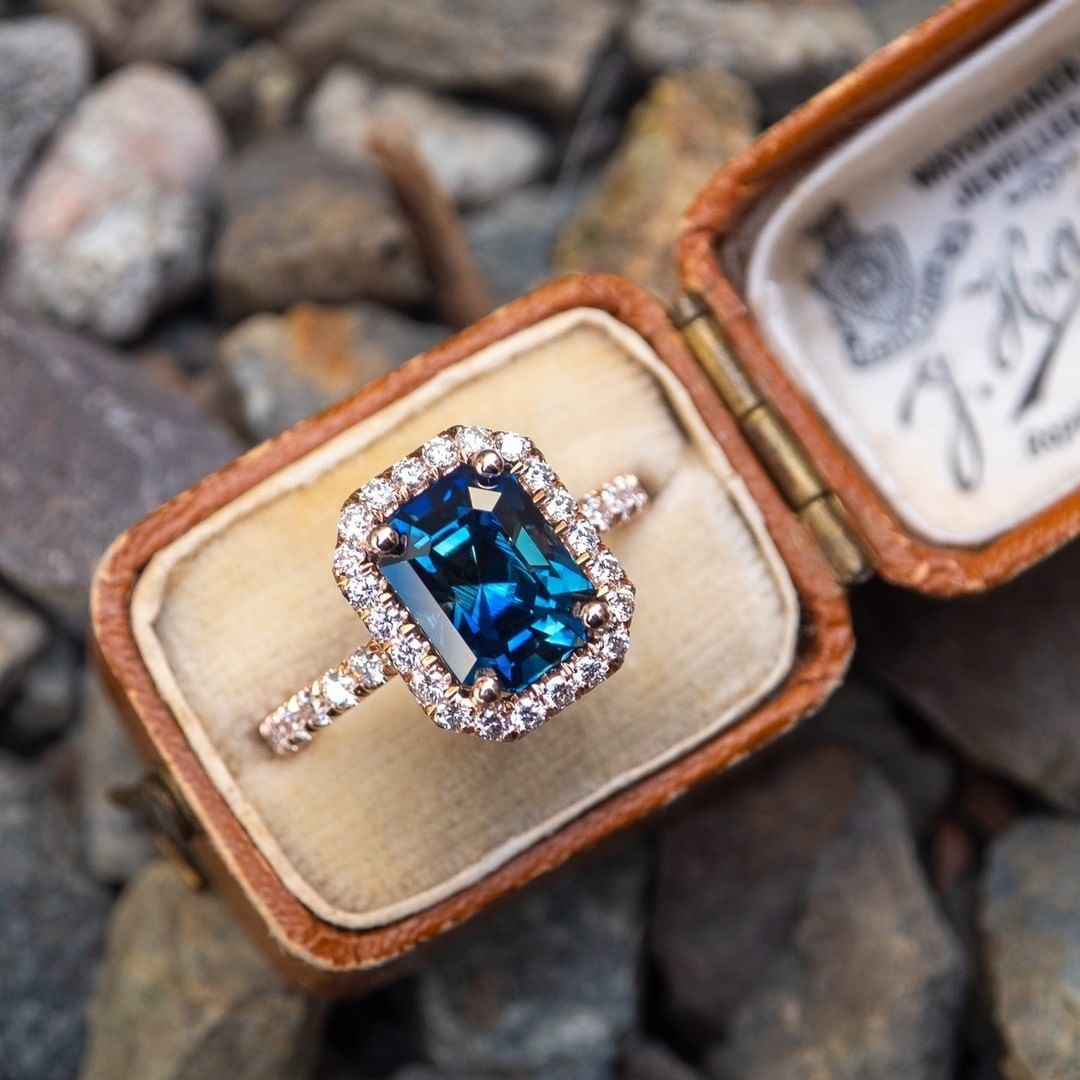 This sapphire color has many names; Peacock, Teal, Blue Green, etc... What would you call it?